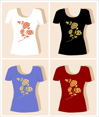 tank top: t-shirt design with rose
