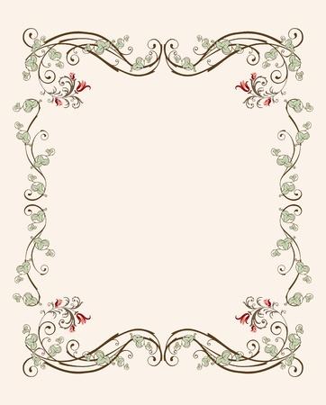 チューリップの花のビンテージ フレーム