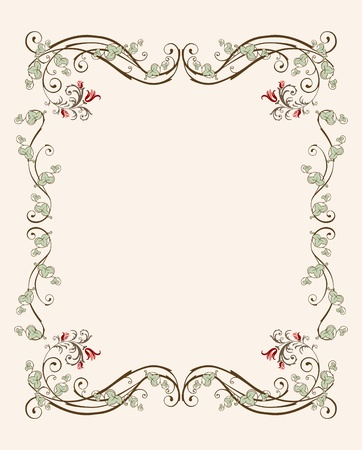 vintage floral frame with tulips  イラスト・ベクター素材
