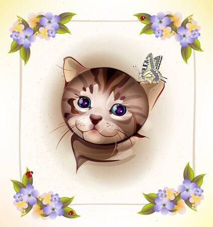 http://us.123rf.com/450wm/sannare/sannare1106/sannare110600007/9684009-geburtstagskarte-mit-wenig-tabby-katze-und-schmetterling.jpg