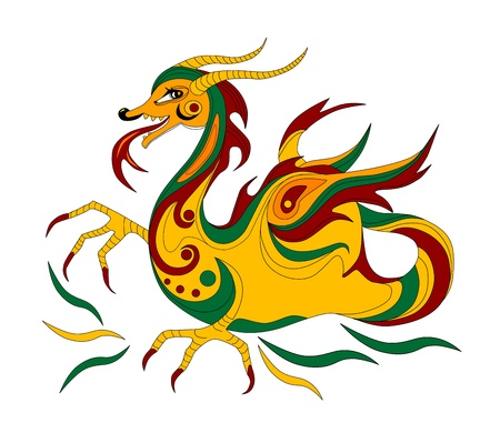 funny Chinese dragon is symbol of calendar 2012 Stock Vector - 10400884