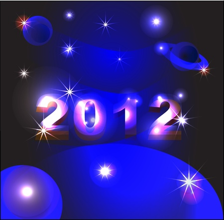 new year 2012 is coming Vector