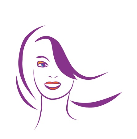 stylized portrait of beautiful young woman  Stock Vector - 10589094