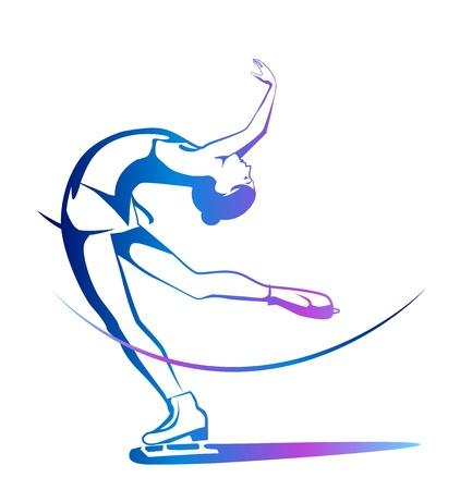 冬のスポーツです。女子フィギュア スケート。氷ショー。