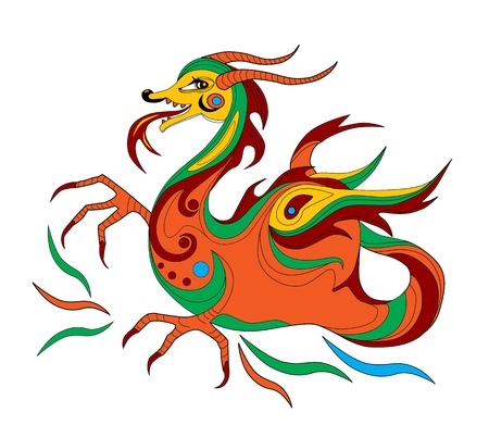 funny Chinese dragon is symbol of calendar 2012 Stock Vector - 10752255