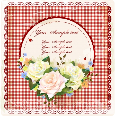 vintage design with roses Stock Vector - 14544464