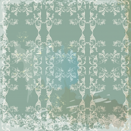 Green  vintage background  in scrapbook style Vector
