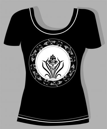 t-shirt design  with  vintage floral element Stock Vector - 14993475