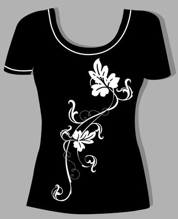 t-shirt design  with  vintage floral element Stock Vector - 15129113