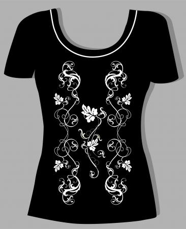 t-shirt design  with  vintage floral element Stock Vector - 15283653