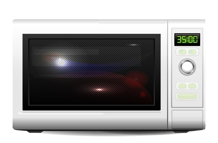 realistic illustration of the microwave oven  Vector