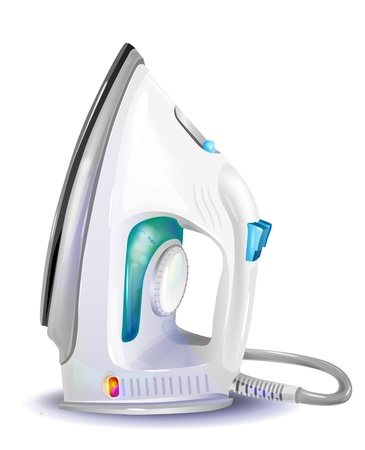 electric iron: realistic illustration of  steam iron  Illustration