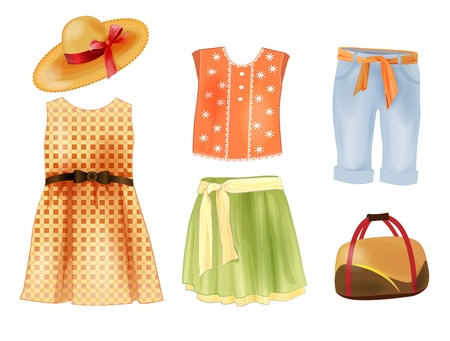 skirt suit: set of summer clothes for girls