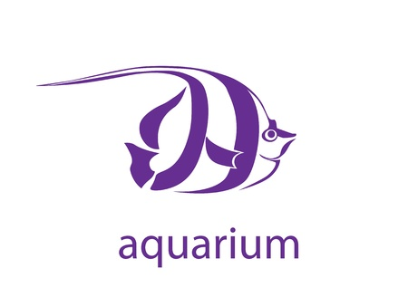 aquarian: symbol of the tropical fish Illustration