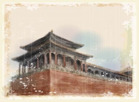 Ciudad prohibida en Beijing, China Foto de archivo - 23107280