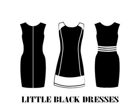 feminity: set of  little black dresses