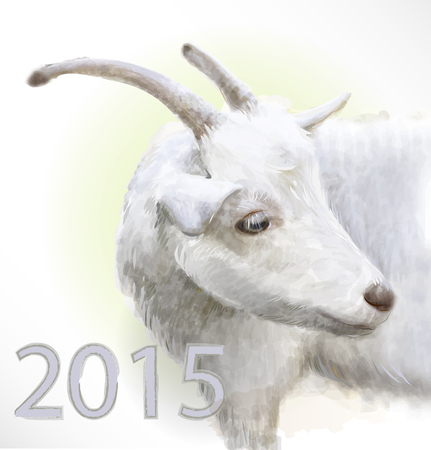 goat is  the symbol of 2015 Vector