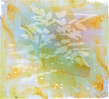 bg: Abstract background with foliage and brushstrokes