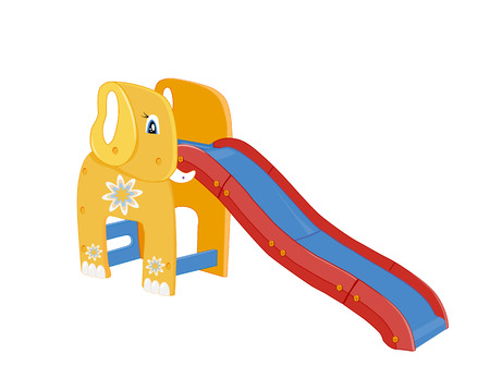 Playground for children.  Illustration of slide Vector