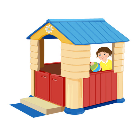 playroom: Playground for children. Illustration of toy house