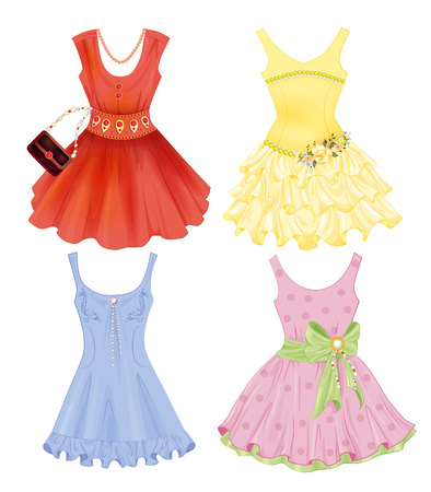 fancy dress costume: set of festive dresses for girls