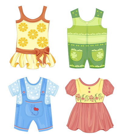 romper: set of seasonal clothes for kids