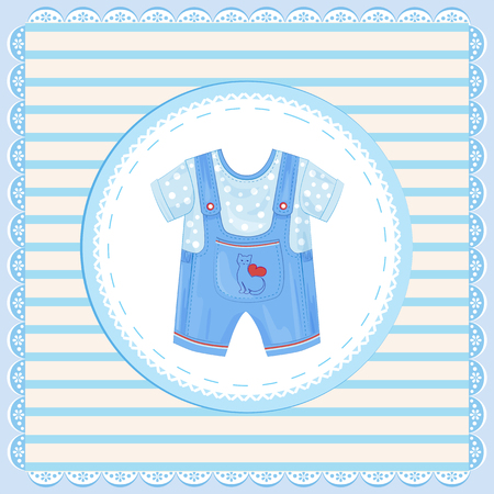 dungarees: background with dungarees for baby boy