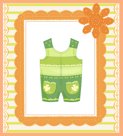 coverall: background with dungarees for baby