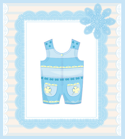 bodysuit: background with dungarees for baby