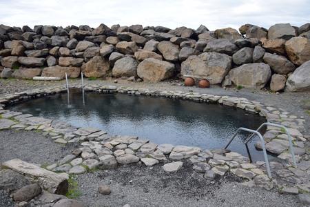 The hot pool Jarlslaug on peninsula Skagi in Iceland.