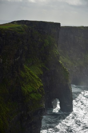 The Cliffs of Moher on the west coast of Ireland in County Clare.