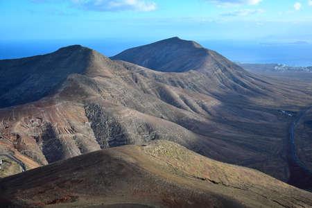View from the mountain Atalaya de Femes near Femes. Lanzarote, Canary Islands, Spain.