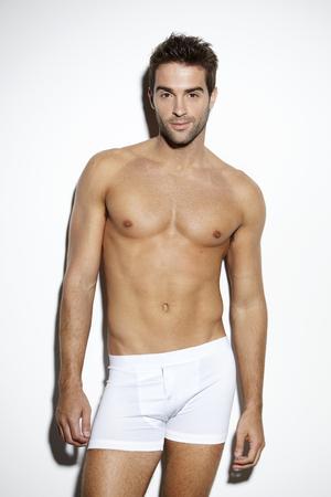 boxer shorts: Attractive bare-chested male in underwear