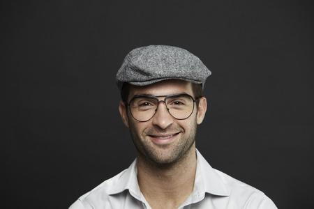 mid adult man: Retrato de hombre de mediana edad en seis peniques Foto de archivo