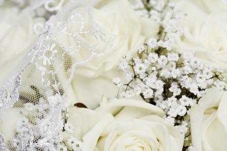 Wedding bouquet, close up photo