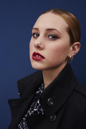 18 19 years: Portrait of beautiful fashion model, studio