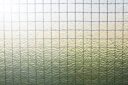 glass panel: Close up of wire glass panel Stock Photo