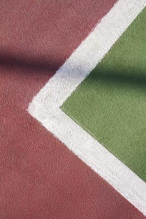 marking up: Cierre para arriba de la pista de tenis marca