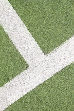 marking up: Close up of tennis court lines