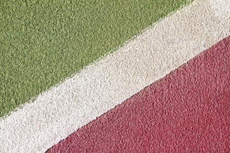 no boundaries: Close up of tennis court markings
