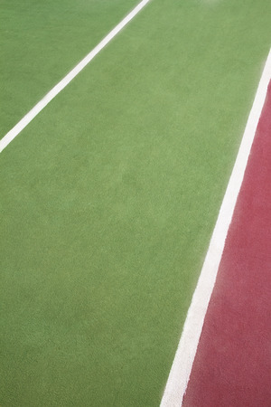 markings: Close up of tennis court markings