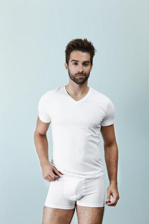Man posing in underpants, portrait