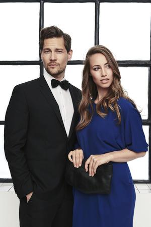 Beautiful couple in smart attire, portrait