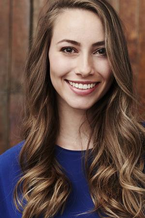 brown  eyed: Beautiful brown eyed girl smiling at camera