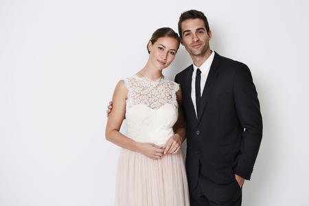 Beautiful glamorous couple in smart fashion, portrait
