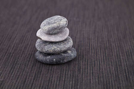 Pile of pebbles, found on a beach on the Island of Corsica, Europe. Stock Photo
