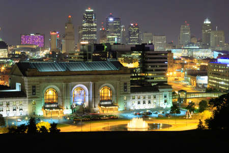 downtown kc at night