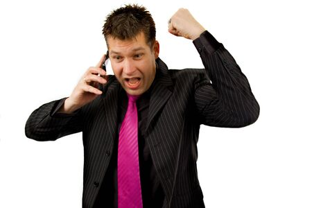 Angry businessman on the phone Stock Photo - 4956648