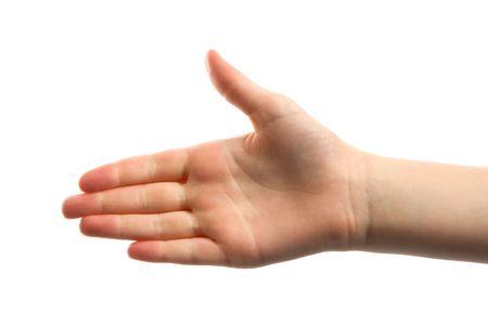 Open hand, handshake, isolated on white background Stock Photo - 4983257