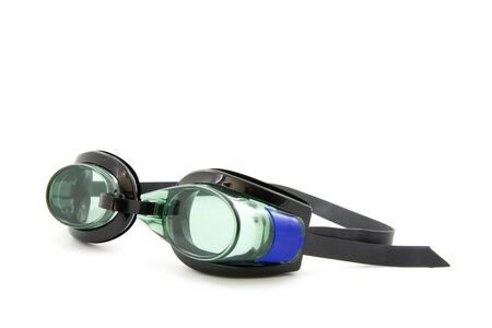 snorkle: Dive goggles, isolated on white background Stock Photo